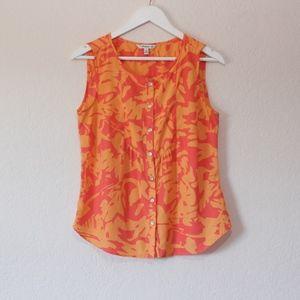 Croft & Barrow Orange Sleeveless Blouse
